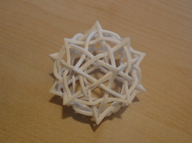 5 twisted cubes 3d printed