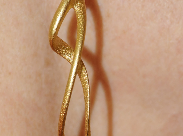 Earring: Twisted loop - 5 cm 3d printed earring with findings (not included)