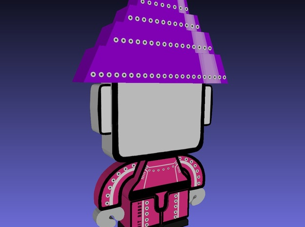DevBots Series 1 Purple 3d printed