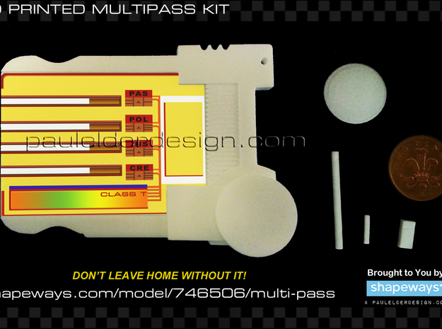 Multi Pass 3d printed Back