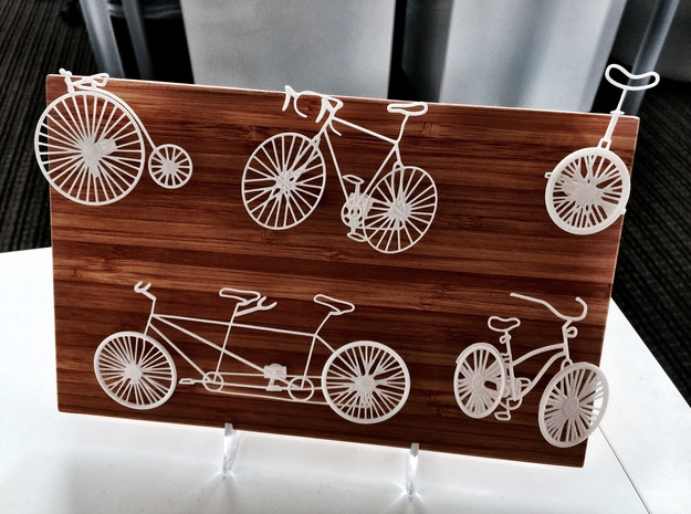 Five Bikes: Wire Wall Art