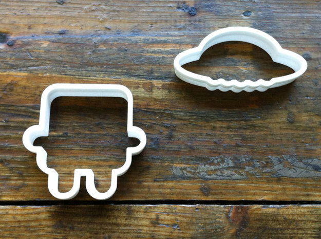 robot cookie cutters 3d printed