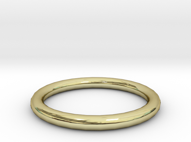 Shiny Bronze ring 3d printed