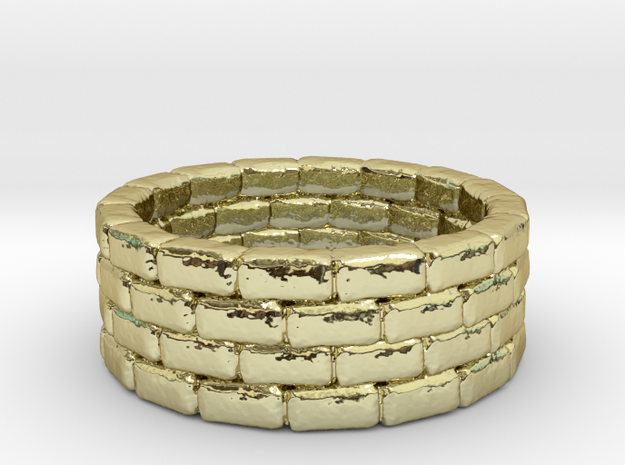 Wishing Well Ring 3d printed