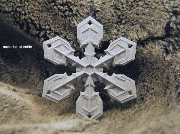 "Large Snowflake Ornament (3.5"" tip to tip) 3d printed"