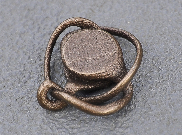 Cylinder Knot 3d printed Bronze
