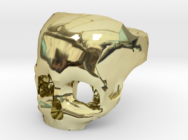 Skull Ring US 11 3d printed