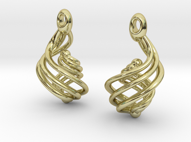 Passionate Fire Earrings 3d printed