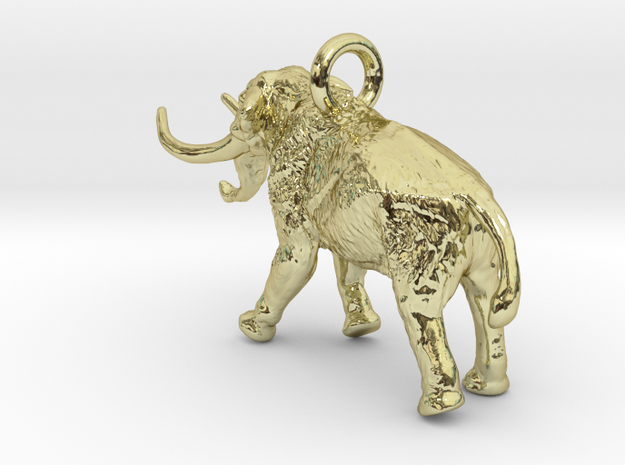 Elephant Charm 3d printed Mammoth pendant by ©2012-2015 RareBreed