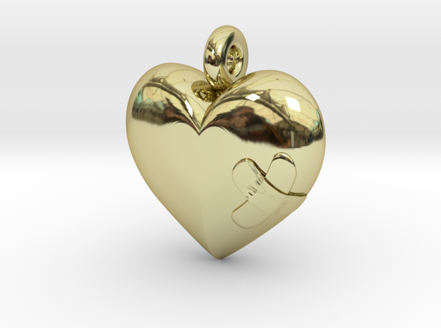 Wounded Heart Pendant 3d printed