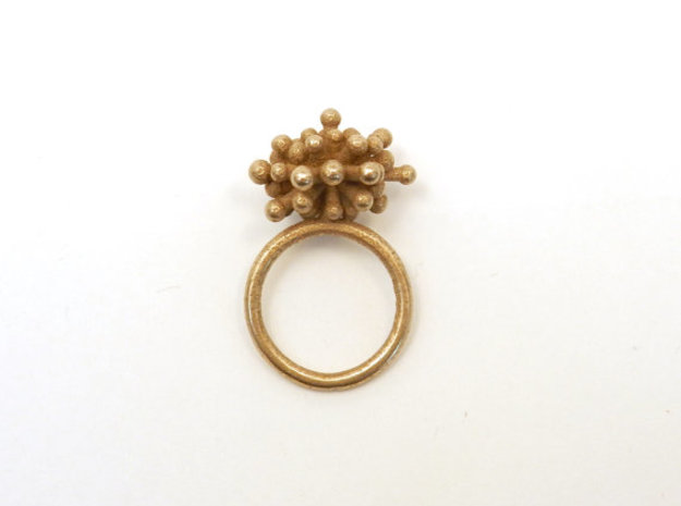 Single Starburst Ring 3d printed