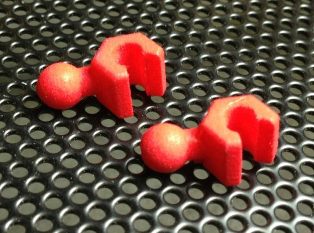 ModiBot Hand Set (Update) 3d printed Shown in Coral Red color option
