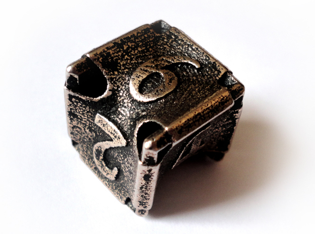 Stretcher Die6 3d printed In stainless steel and inked
