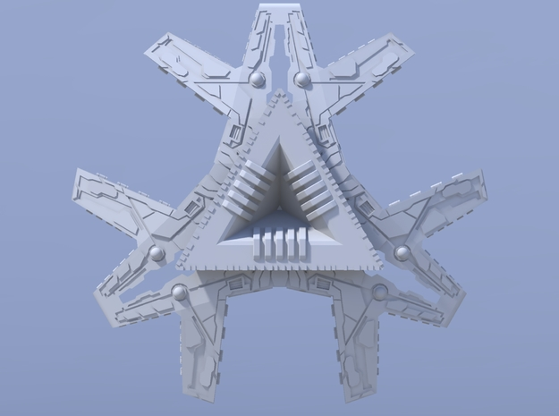 Stargate SG1 - Ha'Tak [120mm & Solid] 3d printed