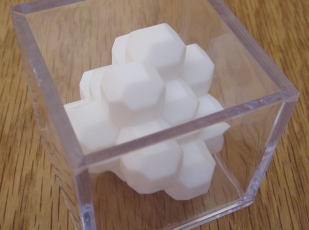 Ell of a puzzle 3d printed Blossom puzzle in the case.