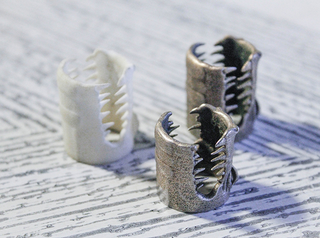 Gator Ring (Various Sizes) 3d printed