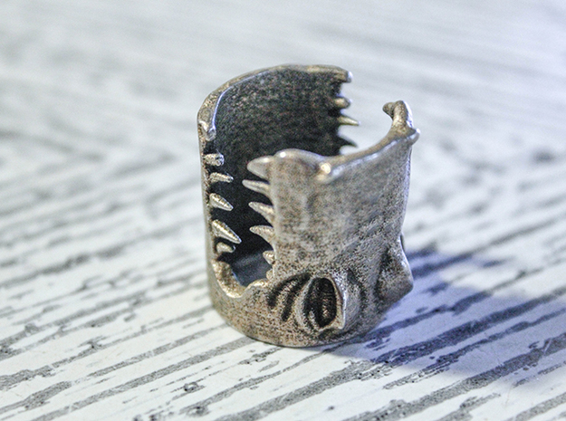 Gator Ring (US Size 7) 3d printed