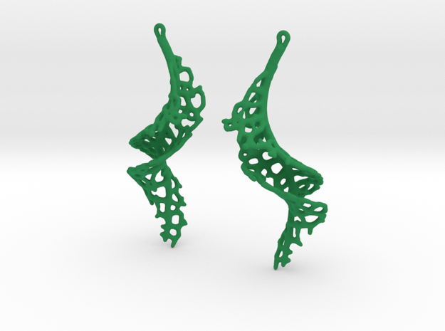 Spiral Earrings - 1 pair 3d printed