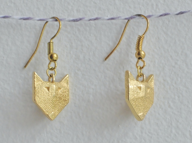 Foxy Geometric Earrings 3d printed