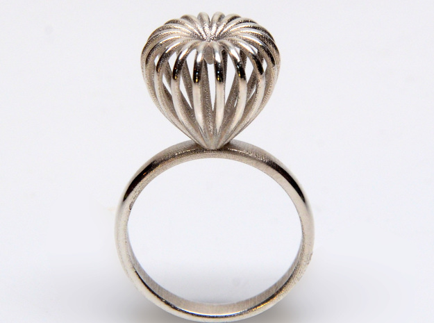 Infinite Love Ring Size 7 3d printed shown in silver