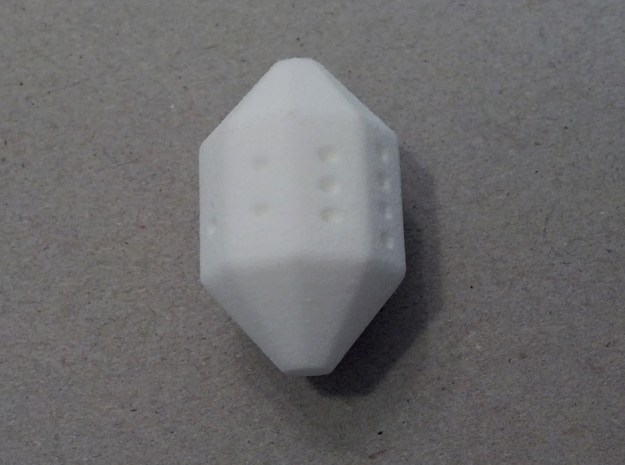 Cycle D9 Die 3d printed A roll of 5. White Strong & Flexible.