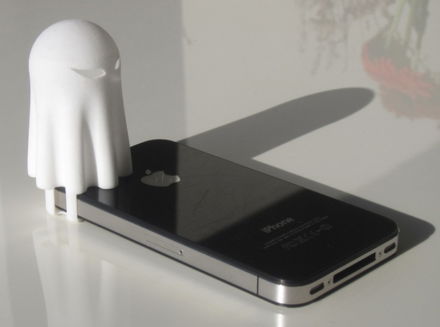 Lightclip: ninja Ghost, iPhone 4/4S 3d printed