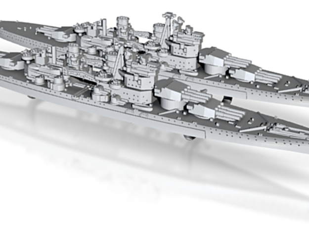 48UK03 BB HMS Lion (1939) x2 3d printed