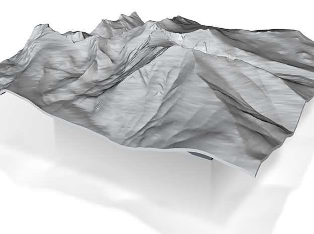6'' Longs Peak Terrain Model, Colorado, USA 3d printed
