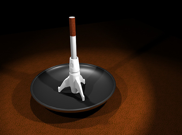 Space Rocket Cigarette Stubber 3d printed Space Rocket Cigarette Stubber 3D render