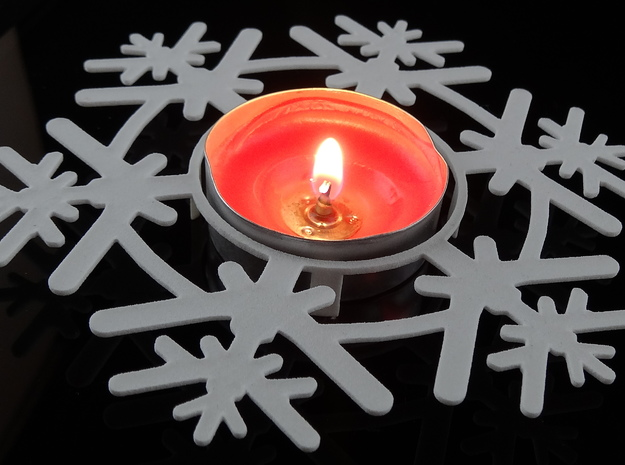 Snow Flake Tea light 3d printed