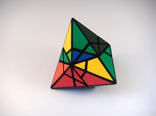 Fractured Tetrahedron Puzzle 3d printed Multiple Turns