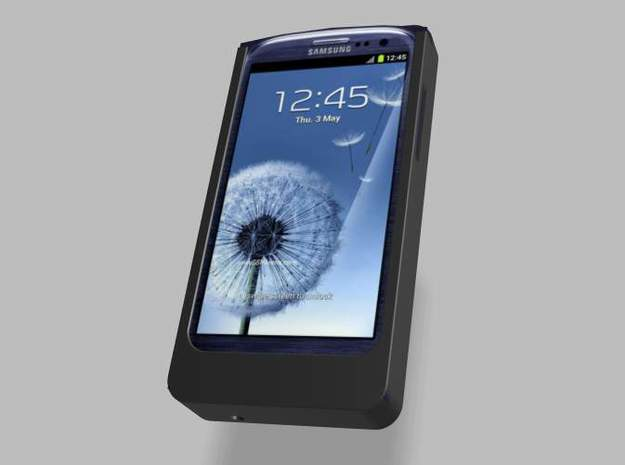 Samsung S3 5000mah Charger Nautilus with USB Out 3d printed