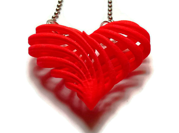 My twisted heart 3d printed
