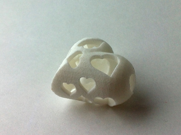 Copy of 1001Hearts 3d printed White Strong & Flexible