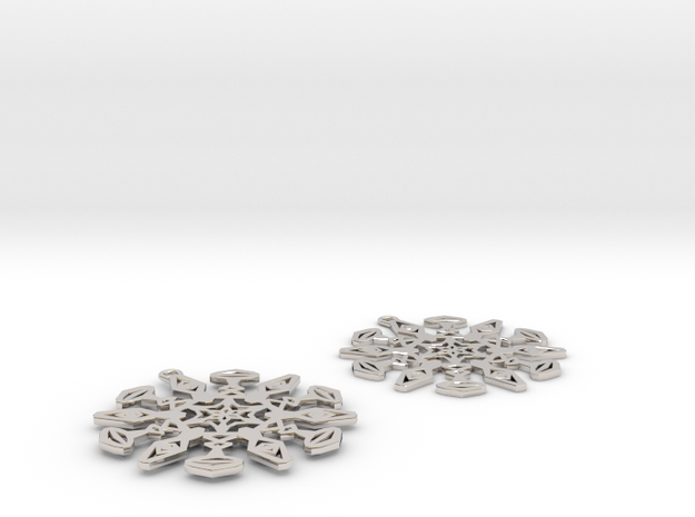 Large Snowflake Earrings 3d printed