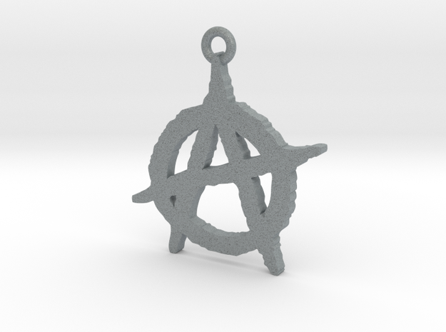 Anarchy Symbol Pendant 3d printed