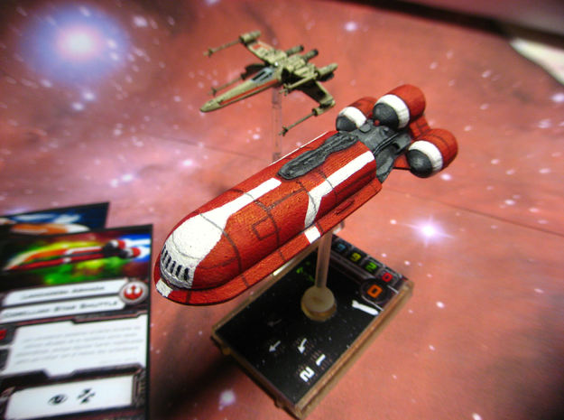 Senate Starship - With base 3d printed Printed and painted