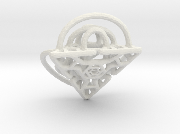 Hammered Split Diamond Pendant 3d printed