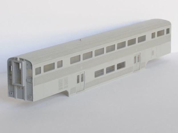 Amtrak California Car Cab Coach 3d printed Painted in Tamiya primer grey