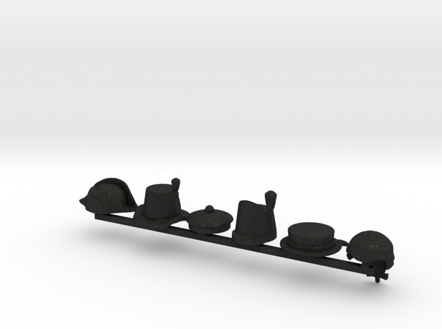 6 x Royal Marine Hats 3d printed