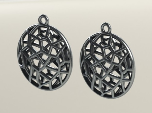 Cell Earrings - with ring #2 3d printed