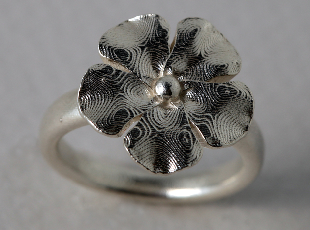 ringflower S57 3/4 (size 8) 3d printed