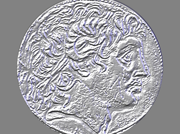 Alexander The Great Coin 3d printed render