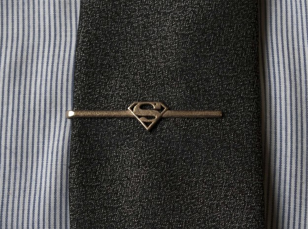 Superman Tie Clip 3d printed