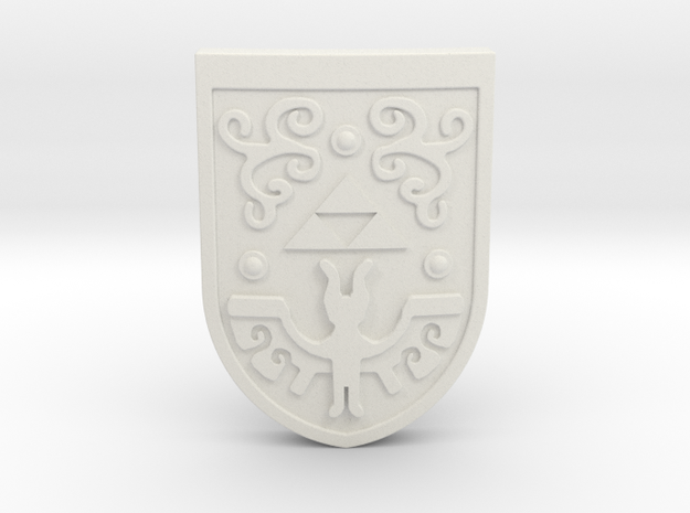 Toon Hero's Shield 3d printed Painted Frosted Ultra Detail