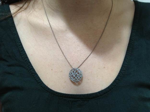 Cell Pendant Mini 3d printed alumide