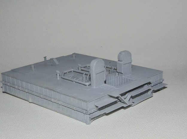 1/400 Shuttle MLP, launch pad NASA 3d printed MLP in grey-primer. This will locate onto the Crawler model I have produced.