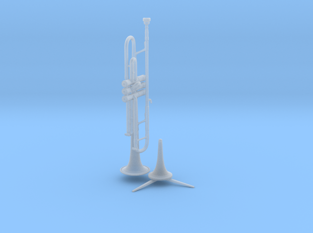 Michael's Mini Trumpet (with Stand) 3d printed