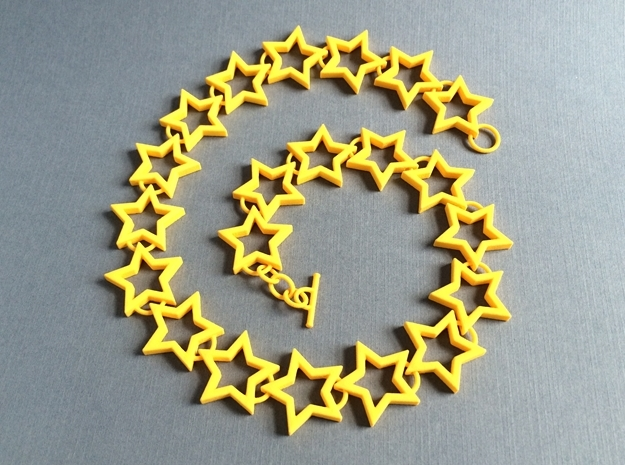 Star Necklace 3d printed Star Link Bracelet by seriaforma