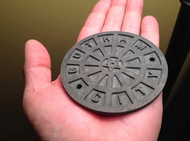 Dark Knight Manhole 3d printed